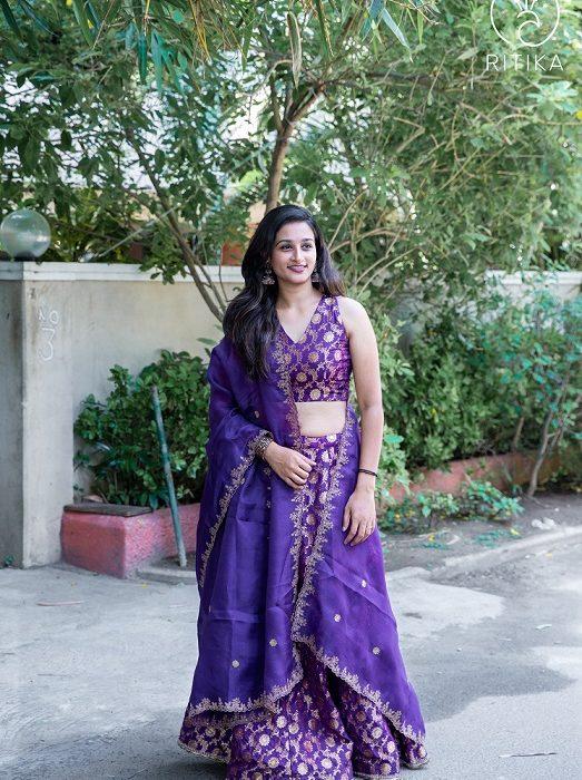 Purple Lehanga