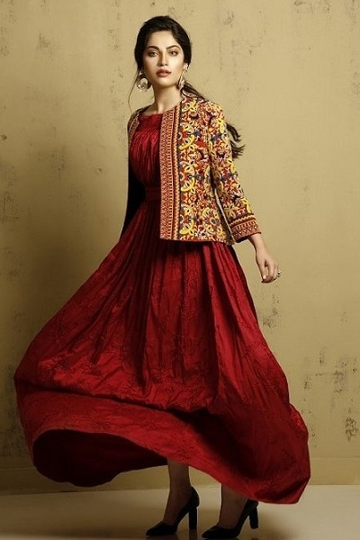 Gown with Jacket by Huma Adnan